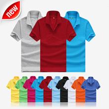 2015 new free shipping summer style lapel collar short-sleeved T-shirt men's fashion casual T-shirt Polo Shirt Men M-XXXL