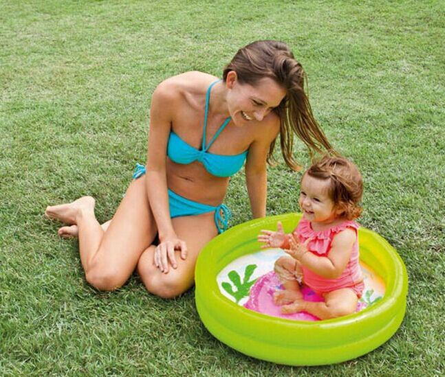 61*15cm Multicolor Cartoon Baby Inflatable Round Swimming Pool Infants Pool Float(China (Mainland))