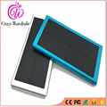 Colourful Metal Solar Power Bank Double USB 5V Output External Battery Pack Real Capacity Portable Quick