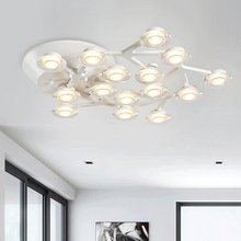 Modern LED pendant lights fixtures for kitchen design lamps for dining room living room art deco lamp acrylic lampshade ring(China (Mainland))