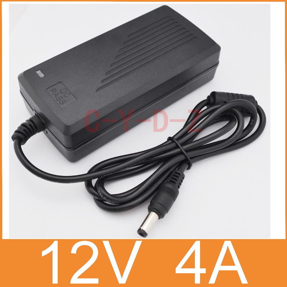 1pcs 12V4A AC 100V-240V Converter Adapter DC 12V 4A 48W Power Supply DC 5.5mm x 2.5mm for 5050/3528 LED Light LCD Monitor(China (Mainland))