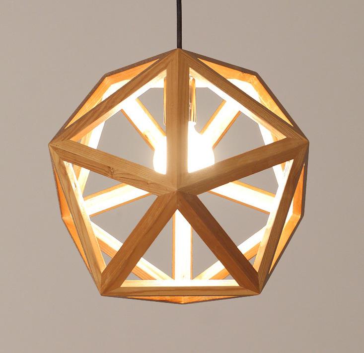 Direct designer handmade wood garden living room pendant light dining bedroom rustic ambience wood led lamp for study room bar(China (Mainland))