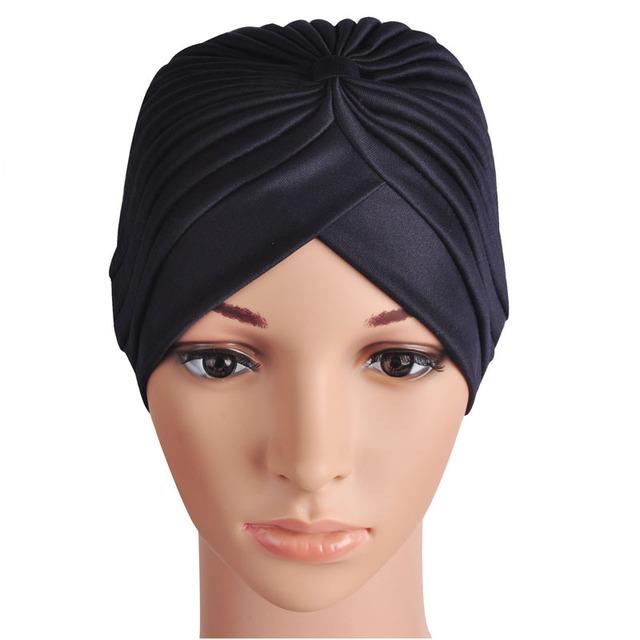 13 цветов 1 шт. новый бренд продажа женщин шляпы эластичный тюрбан обернуть голову ...