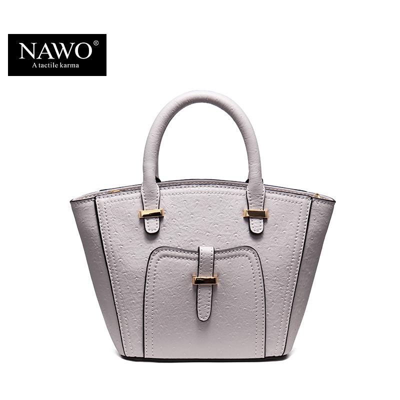 NAWO 2016 Women Leather Trapeze Bag Branded Handbags Ladies Designer High Quality Luxury Female Shoulder Crossbody Small Bag(China (Mainland))