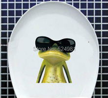 Buy Fashion Toilet Sticker Cute Green Frog Toilet Sticker -wall Sticker Home Decor Bathroom Decor named pointed for $2.38 in AliExpress store