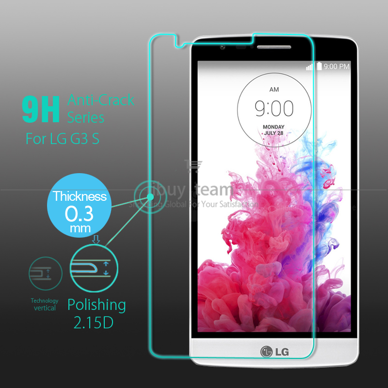 Premium Tempered Glass for LG G3 D724 Screen Protector G3 Mini Screen Protective Film for LG G3 S Beat mini Real Tracking Number(China (Mainland))