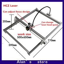 Laser 50 * 65mm large area 7000 mw laser metal engraving machine DIY laser cutting machine Mini 7W laser module marking machine