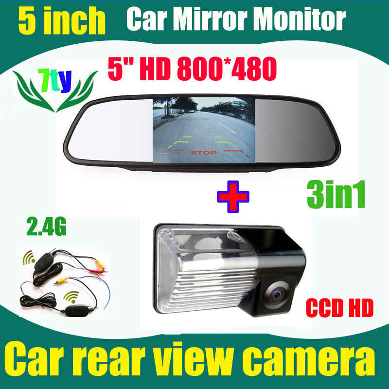 2.4G wireless car reverse backup rear camera for Toyota Avensis 2006 2007 2008 Corolla BYD F3 F3R and car monitor 5inch(China (Mainland))