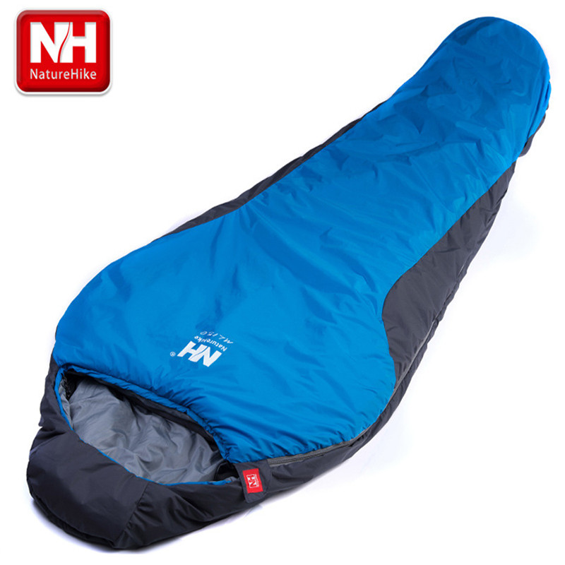 NatureHike Portable Multifuntional Ultralight Mini nylon mummy shape Outdoor Camping Travel Hiking Sleeping Bag 1100g 2 Colors(China (Mainland))