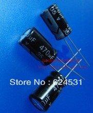 HOT 100 pcs 470UF 35V Electrolytic Capacitors 10X13mm(China (Mainland))