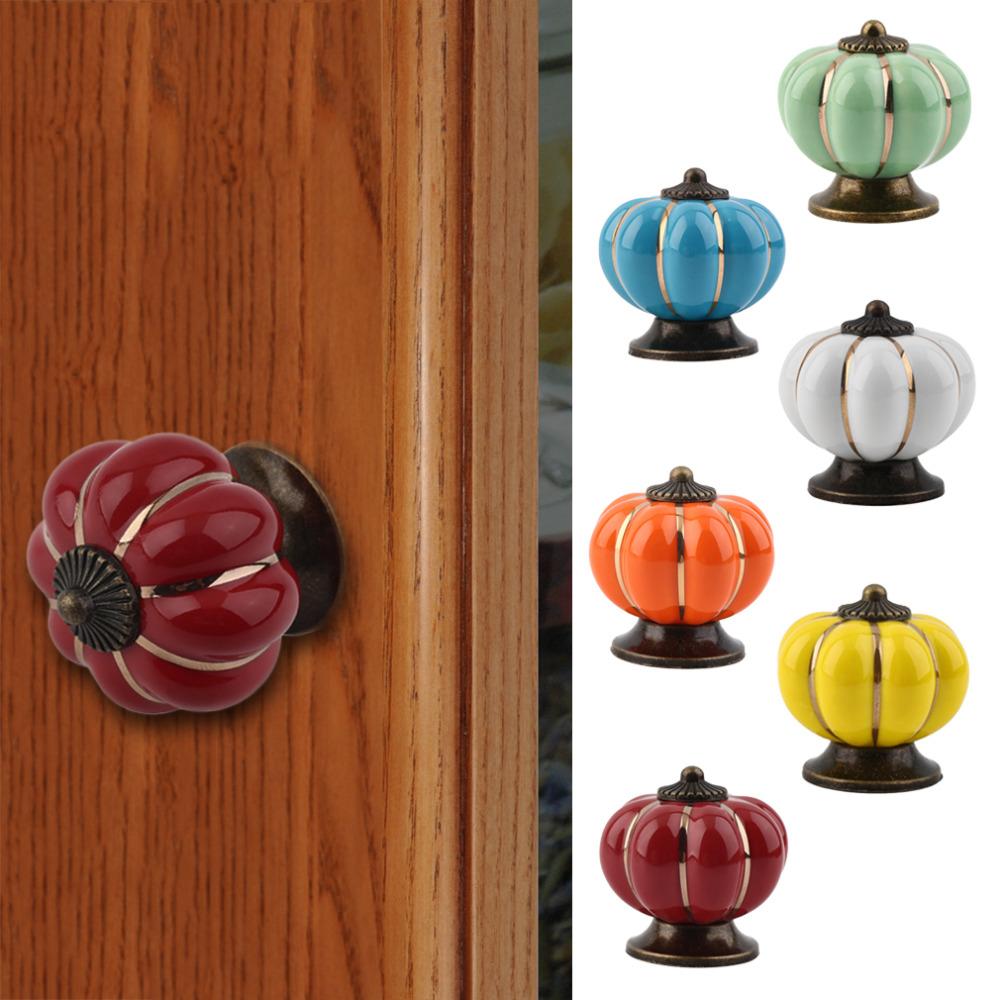Vintage Round Ceramics Drawer Knob Door Cabinet Cupboard