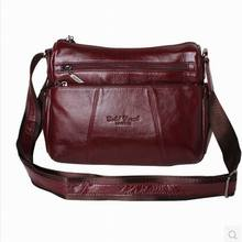 Fashion All-match Women's Messenger Bag 100%Genuine Leather Handbags cowhide shoulder crossbody bags for women