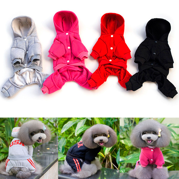 Hot Pet Dog Clothes Puppy Cat Hoodie Warm Coat Tee Sweatshirt Jumpsuit Costume S-XXL Free Shipping(China (Mainland))
