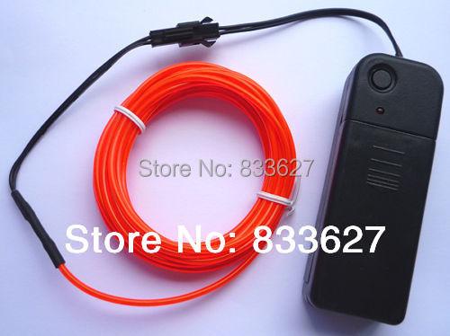 gift 3M EL Wire Neon Light Flexible Strobe Glow Car dance Party Decor & Orange - Shining Energy store
