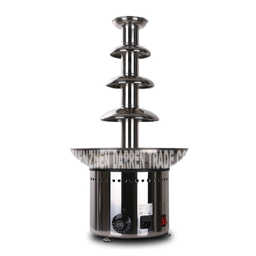 Commercial Party 5 Tiers Chocolate Waterfall Fountain Accessories Tower ,Auger