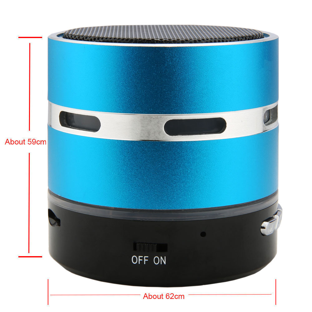 2016 New Luxury Smart Mini Portable Wireless Bluetooth Speaker LED Light Stereo Hands free Speaker for
