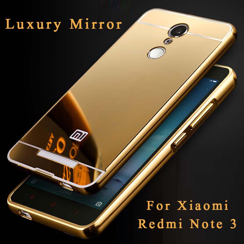 Case Design metal case mobile phones Redmi Note 3 case Luxury High Quality Mirror Aluminum Case Metal ...