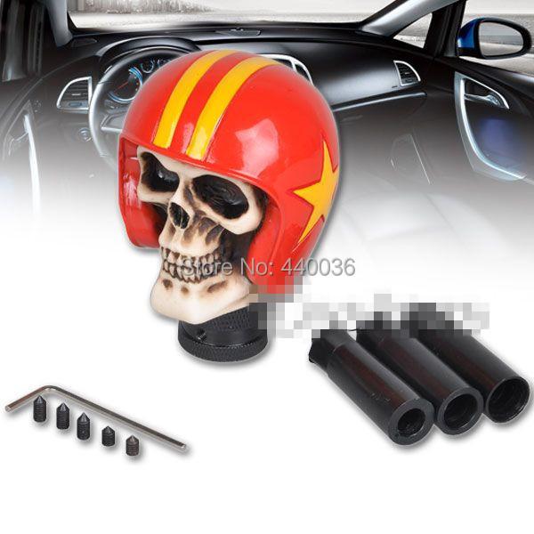 Red Skull Knight Universal Car Manual Gear Knob Stick Shift Lever Knob(China (Mainland))