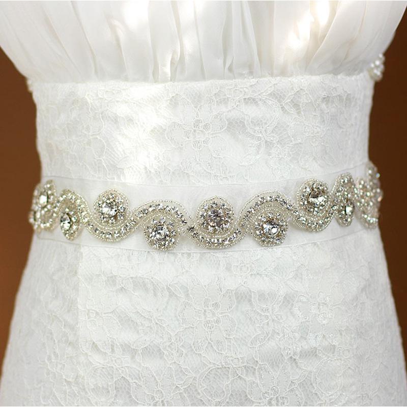 Свадебный пояс со стразами своими руками