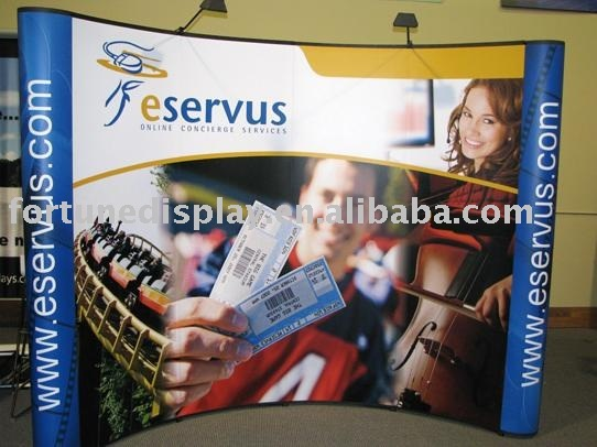 Pop Up Banner, Full Magnetic Trade Show Booth, Portable Display Stand.