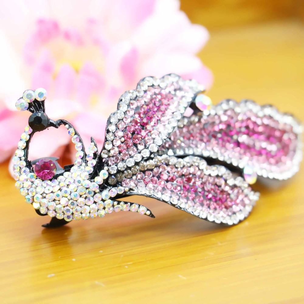 40*88mm Fashion Wedding Headdress Headband Headpiece Elegant Crystal Hairpin Hair Clip For women Girls Jewelry Making Bow(China (Mainland))