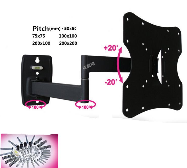 "LED LCD Plasma TV Wall Mount Tilt Swivel Flat Screen Motion Rotating Arm Television Bracket VESA 200X200 Fit 14""-40"" AE112CK1DE(China (Mainland))"