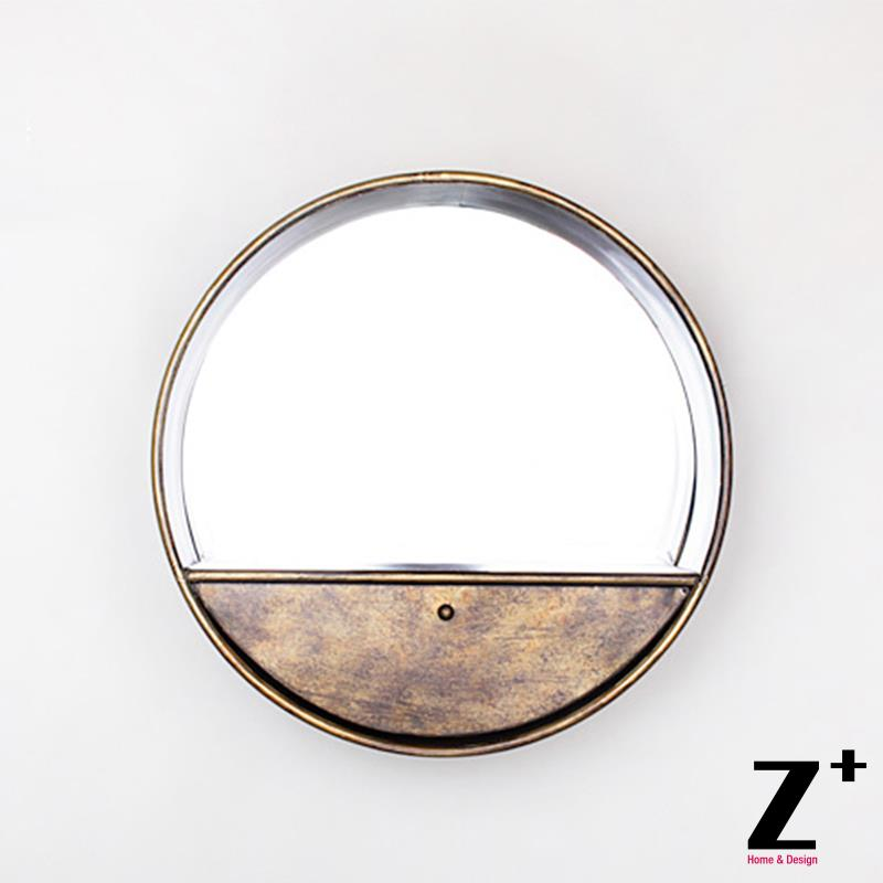 Vintage Mirror Decoration Iron made mirror with drawer decor free shipping(China (Mainland))