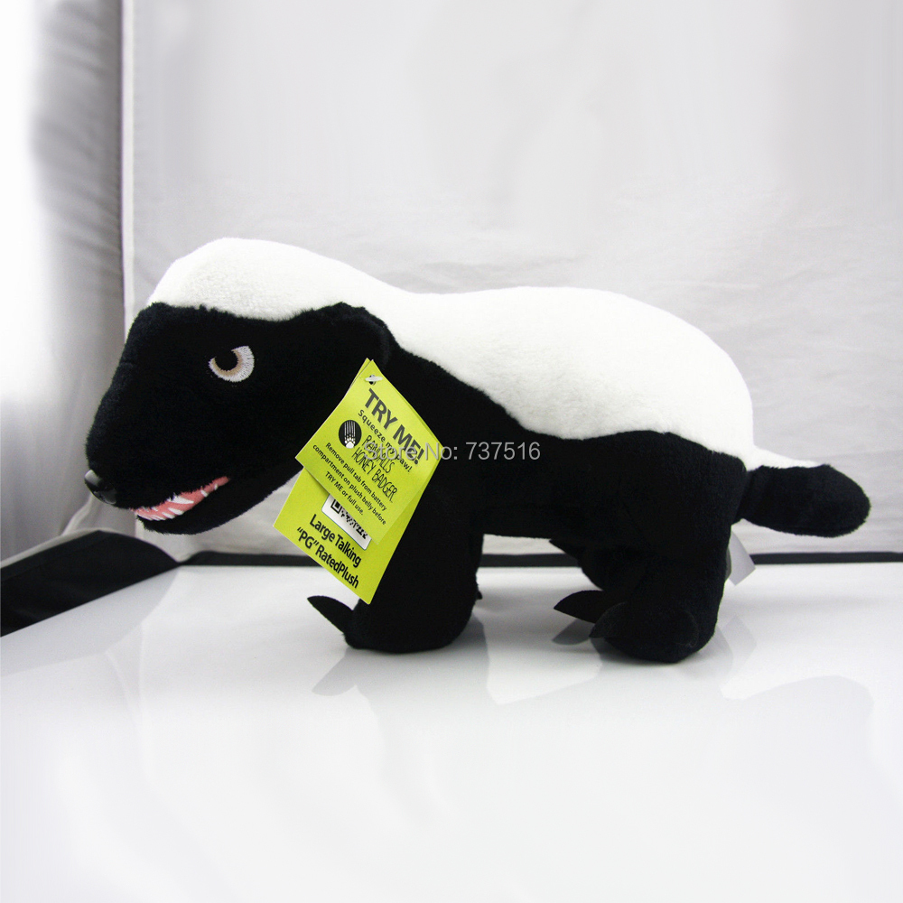 New Best Friends Honey Badger Large 12'' Talking Plush Doll Soft Stuffed Rated New Plush Interesting Gift For Baby toys(China (Mainland))