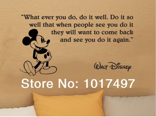 hot selling Mickey mouse kids room decor wall stickers,Mickey Mouse wall quote vinyl wall art decals free shipping,K2054(China (Mainland))