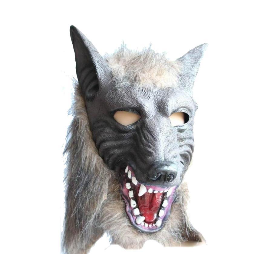 Halloween Suppliers Wolf Mask Latex Animal Prop For Halloween For Halloween 100% Brand New And High Quality Free Shipping(China (Mainland))