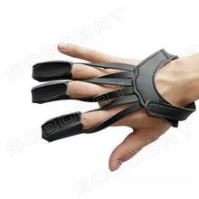 3 Finger Archery Protect Glove Pull Bow Arrow Leather for Shooting Hunting Finger Protector