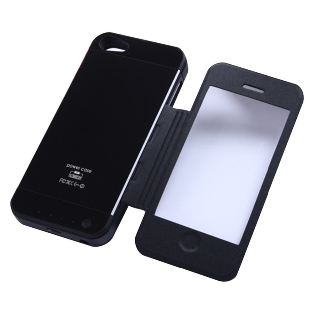 Black Color Leather Cover Power Bank Charger 3500mAh For Iphone 5s 5(China (Mainland))