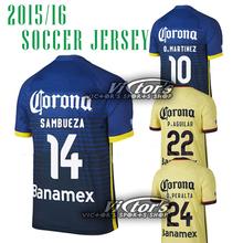 Club 2015 2016 Americaes Home Jersey soccer yellow D.BENEDETTO 9 Away 15 16 Dard Blue SAMBUEZA P.AGUILAR 22 Jerseys shirt (China (Mainland))