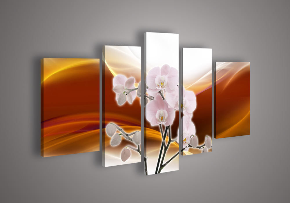 Modern Plastic Wall Decor : Panel wall art no framed modern abstract acrylic flower