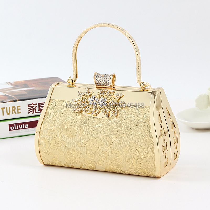2015 New Arrival Women Diamond Floral Evening Clutch Bag Ladies Banquet Wedding Handbag Party ...