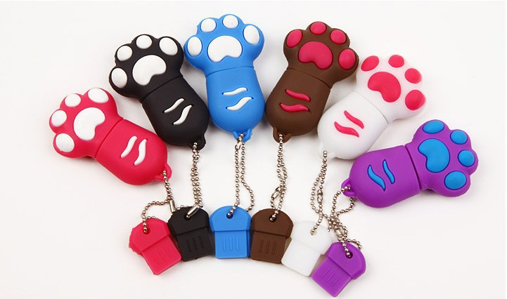 New hot Cartoon Cat Claw Usb flash drive 8gb 16gb 32gb 64gb cat's claw usb pendrive gift u disk memory stick pen drive(China (Mainland))