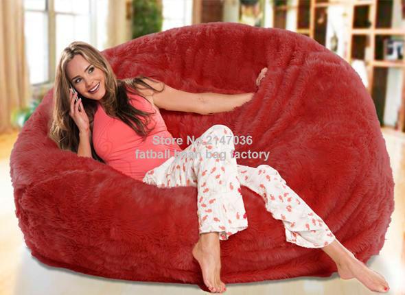 Red oversize living room bean bag furniture, warm and sofa comfort beanbag sofa chair set(China (Mainland))