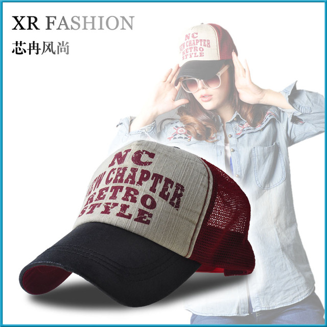 Outdoor sunscreen denim cap truck net hat female summer vintage trucker hats sunbonnet male