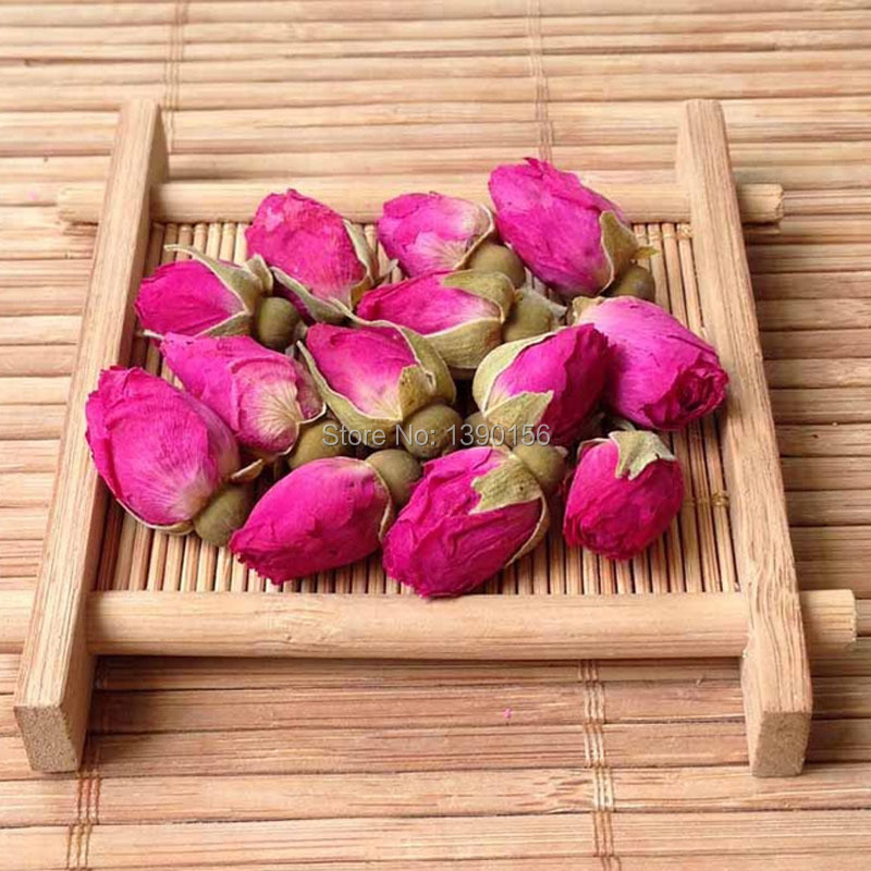 Гаджет  50g Chinese Flower Tea Organic Red Rosebud Rose Buds Flower Floral Herbal Dried Health Loose Tea Anti-Aging Afternoon Tea None Еда