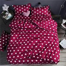 bedding set 5 size green leaf bedding set duvet cover set Korean bed sheet +duvet cover +pillowcase pink bed cover bed linen set(China)