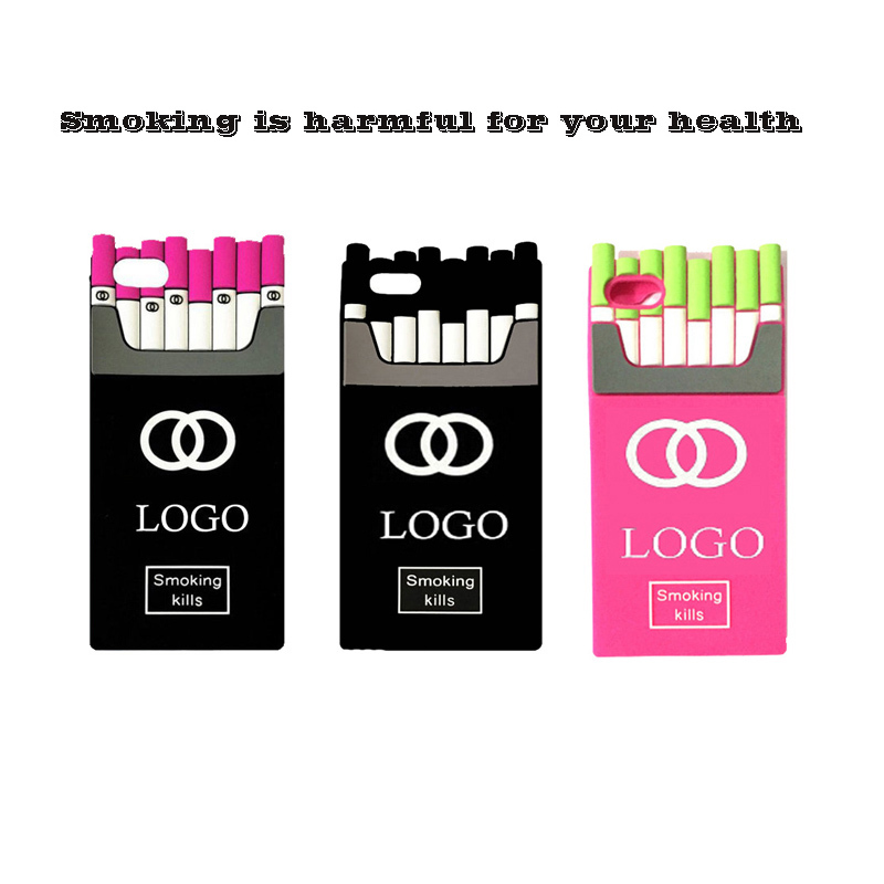 Luxury Smoking Kills CC Brand Cigaret channel Cases for iPhone 6 4 4S 5S Silicone Cover Cigarette Box Case for iPhone 6 Plus(China (Mainland))