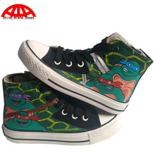 China Brand Shoes Boys Girls Child Anime Ninja Turtles Hand Painted Shoes Kids Children Ninja Turtles