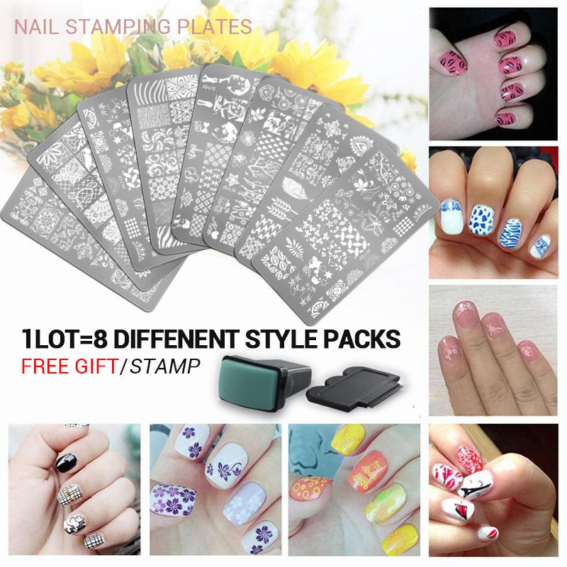 10pcs New Arrival set 3 Nail Art Image Printing Beauty Designs Women Tips Nails Stamping Plates Nail Art Polish Templates(China (Mainland))