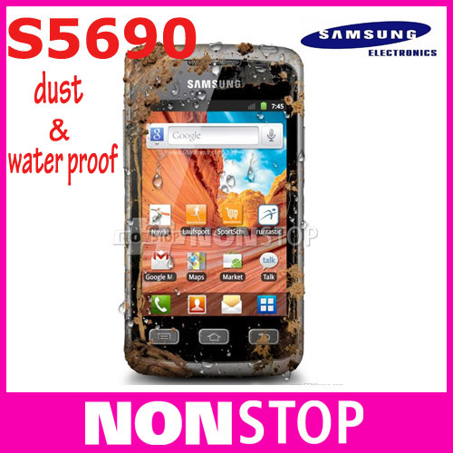 Dust & water proof Original waterproof Samsung S5690 Dustproof Mobile Phone Galaxy Xcover Android GPS WIFI 3.65''TouchScreen(China (Mainland))