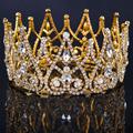 2016 New Luxury Royal Bridal Tiaras Gold Metal Clear Rhinestone Crystal Bridal Crown Wedding Hair Accessories
