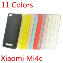 TPU Case for Xiaomi Mi4c Ultra Slim Fit 0.5mm Soft Transparent or Matte TPU Skin Phone Cover for Xiaomi Mi4c(China (Mainland))