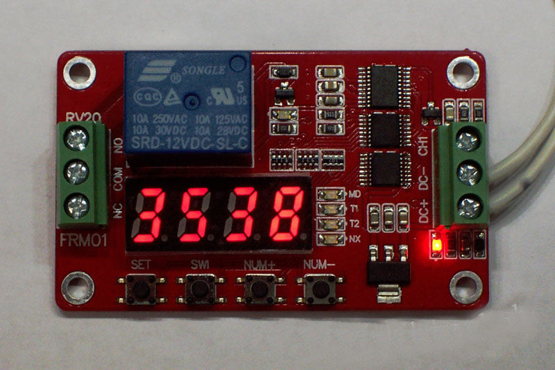 Module Cycle Timer Module Self locking PLC Delay FRM01 Multifunction 12V Relay