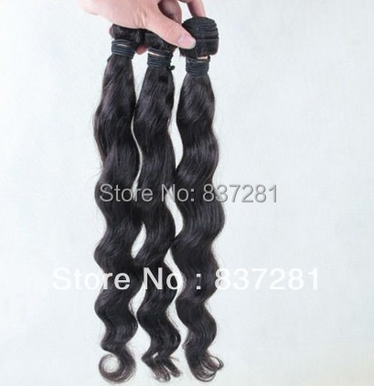 100% human queen hair extensions malaysian weave 3 bundles lot loose wave weft - Flower factory store