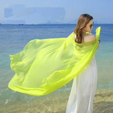New arrival 2015 solid color silk chiffon scarfs spring and autumn women's solid color scarf cacheco(China (Mainland))
