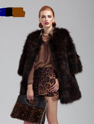 Top Best New Fashion Natural Raccoon Furs Coats Women's Real Fur Overcoat Genuine Fur Coat For Women Fox Jacket 5XL(China (Mainland))